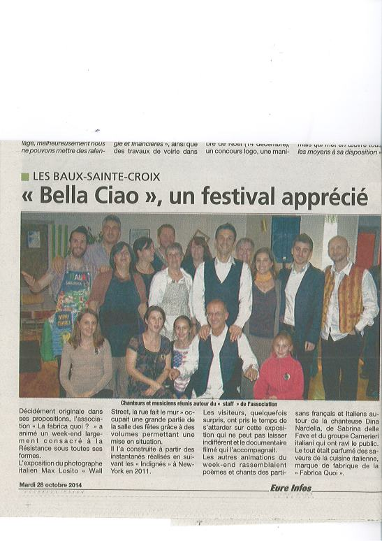 article bella ciao eure info les baud set croix la fabrica quoi 2014