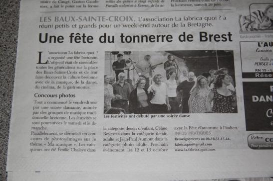 article fete de ton air de brest- la fabrica quoi- les baux sainte croix - juin 2012