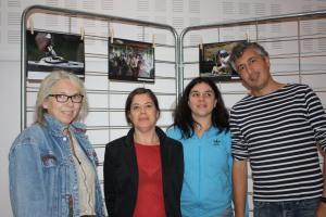 le jury: Catherine dite  TOTA , Catherine ferret  de CFOTO,  Karo - Happy Cally et  le gagnant :Emanuele Fantini