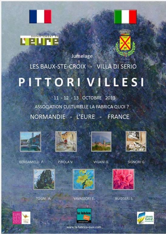 affiche Pittori villesi Les Baux Ste Croix La fabrica quoi 2013