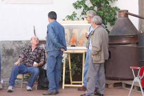"""exposition octobre 2012  pittori villesi """"vieux usages / outils et peintures. """""""