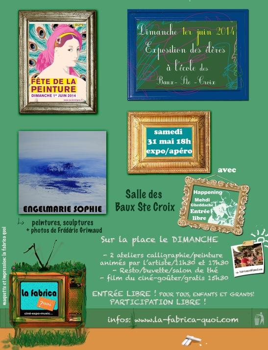 affiche  exposition 31 mai et 1er juin 2014©lafabricaquoi?