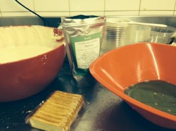 les ingrédient pour le tiramisu thé vert matcha