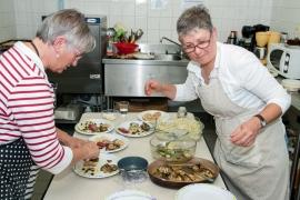 Anie et Martine - assiettes antipasti