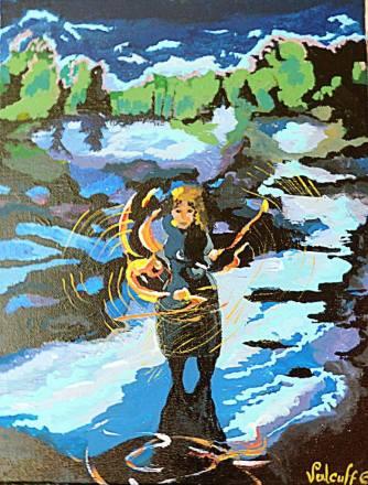 fille qui jongle au bord de l'eau - Valcuff 2014