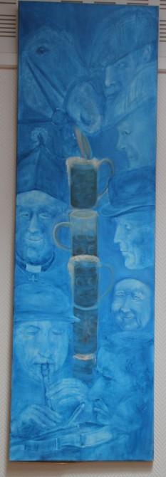 Peinture : 17h à Dublin - Engelmarie Sophie - série des villes européennes à 17h.