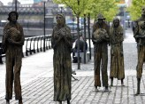 "1997 - ""Famine,"", St. Stephen's Green, Custom House Quay, Docklands, Dublin (Ireland). By Edward Delaney. This location is a particularly appropriate & historic as one of the first voyages of the Famine period was on the 'Perserverance' which sailed from Custom House Quay on St. Patrick's Day 1846. The Steerage fare on the ship was £3 and 210 passengers made the historical journey. They landed in New York on the 18th May 1846. All passengers and crew survived the journey."